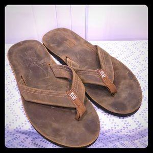 Waltzing Matilda leather flip flops 13